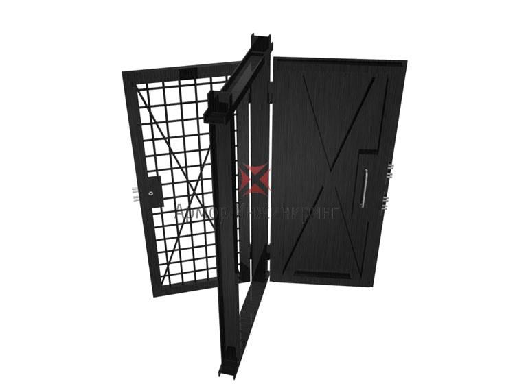 дверь сплошная стальная толщиной не менее 3 мм